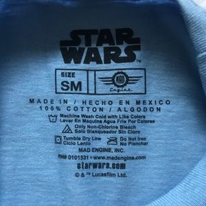 Star Wars Shirts - Star Wars - Retro Baby Blue Dark Side Tee